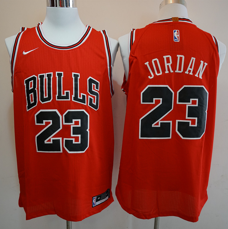 Men Chicago Bulls 23 Michael Jordan Red Game Nike NBA Jerseys