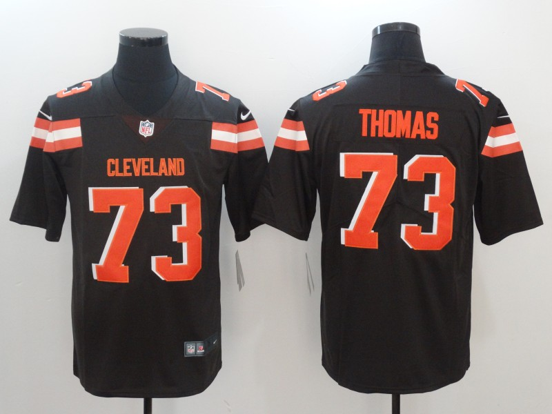 Men Cleveland Browns 73 Thomas Brown Nike Vapor Untouchable Limited NFL Jerseys