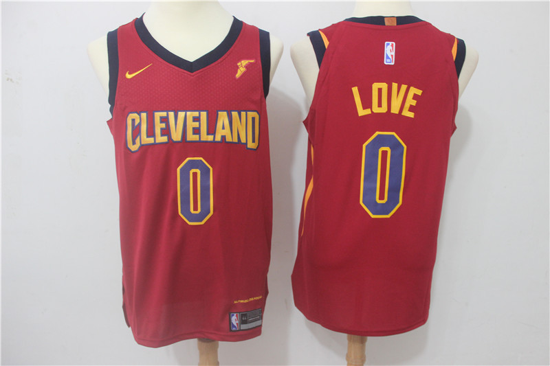 Men Cleveland Cavaliers 0 Love Red Game Nike NBA Jerseys