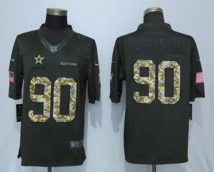 Men Dallas cowboys 90 Lawrence Green Nike Anthracite Salute To Service Limited Jersey