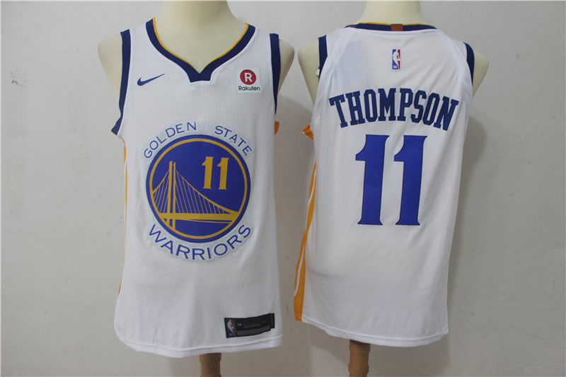 Men Golden State Warriors 11 Thompson White Game Nike NBA Jerseys