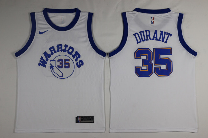 Men Golden State Warriors 35 Durant White Game Nike NBA Jerseys1