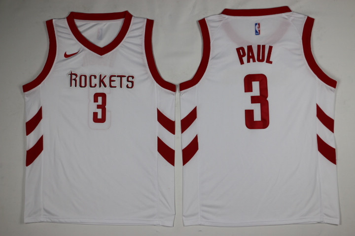 Men Houston Rockets 3 Paul White Game Nike NBA Jerseys