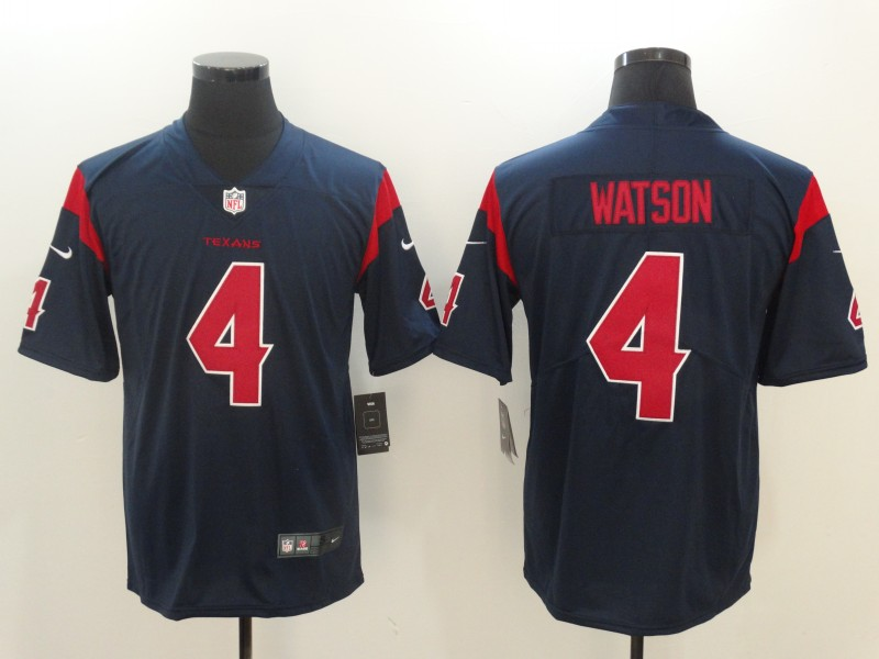 Men Houston Texans 4 Watson Blue Nike Vapor Untouchable Limited NFL Jerseys