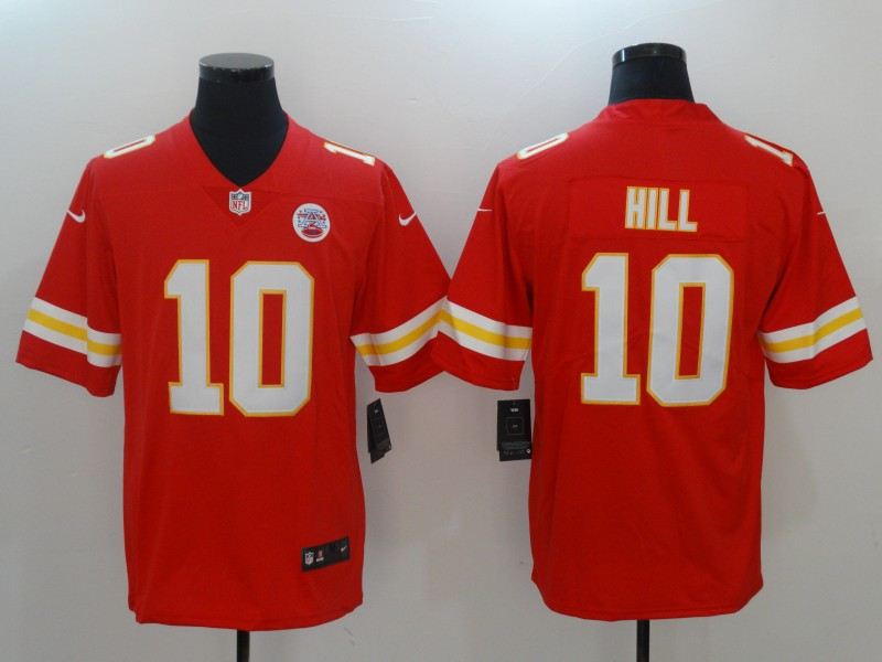 Men Kansas City Chiefs 10 Hill Red Nike Vapor Untouchable Limited NFL Jerseys