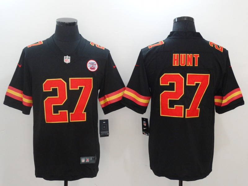 Men Kansas City Chiefs 27 Hunt Black Nike Vapor Untouchable Limited NFL Jerseys