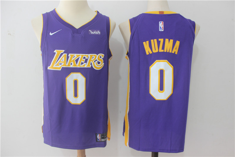 Men Los Angeles Lakers 0 Kuzma Purple NBA Jerseys