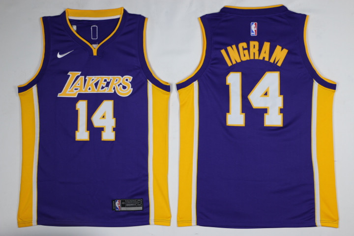 Men Los Angeles Lakers 14 Ingram Purple Game Nike NBA Jerseys