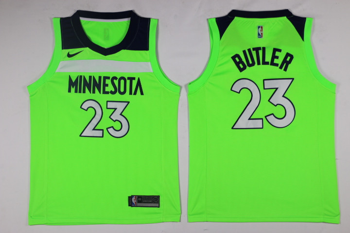 Men Minnesota Timberwolves 23 Butler Green Game Nike NBA Jerseys