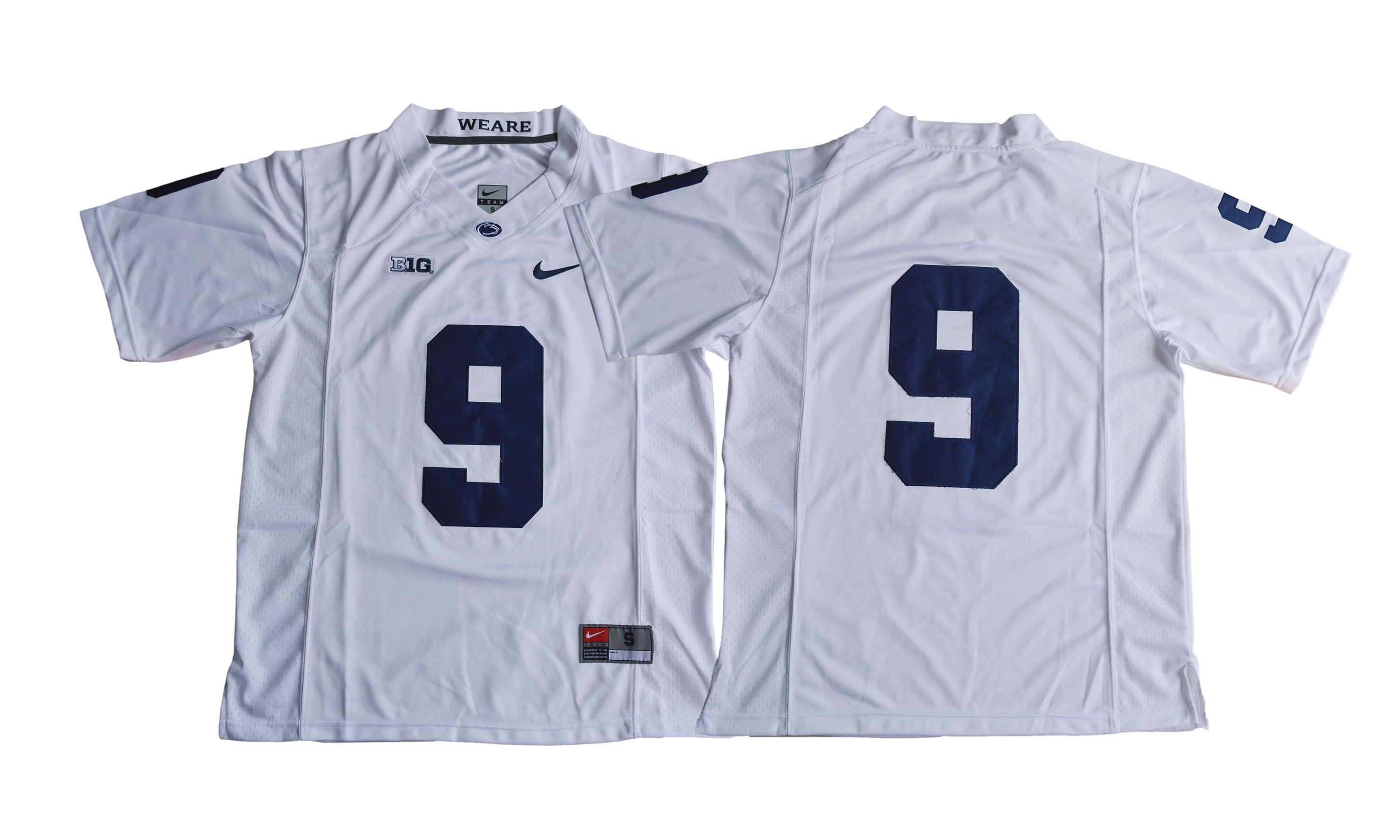 Men NCAA 2017 Penn State Nittany Lions 9 Trace McSorley white jersey