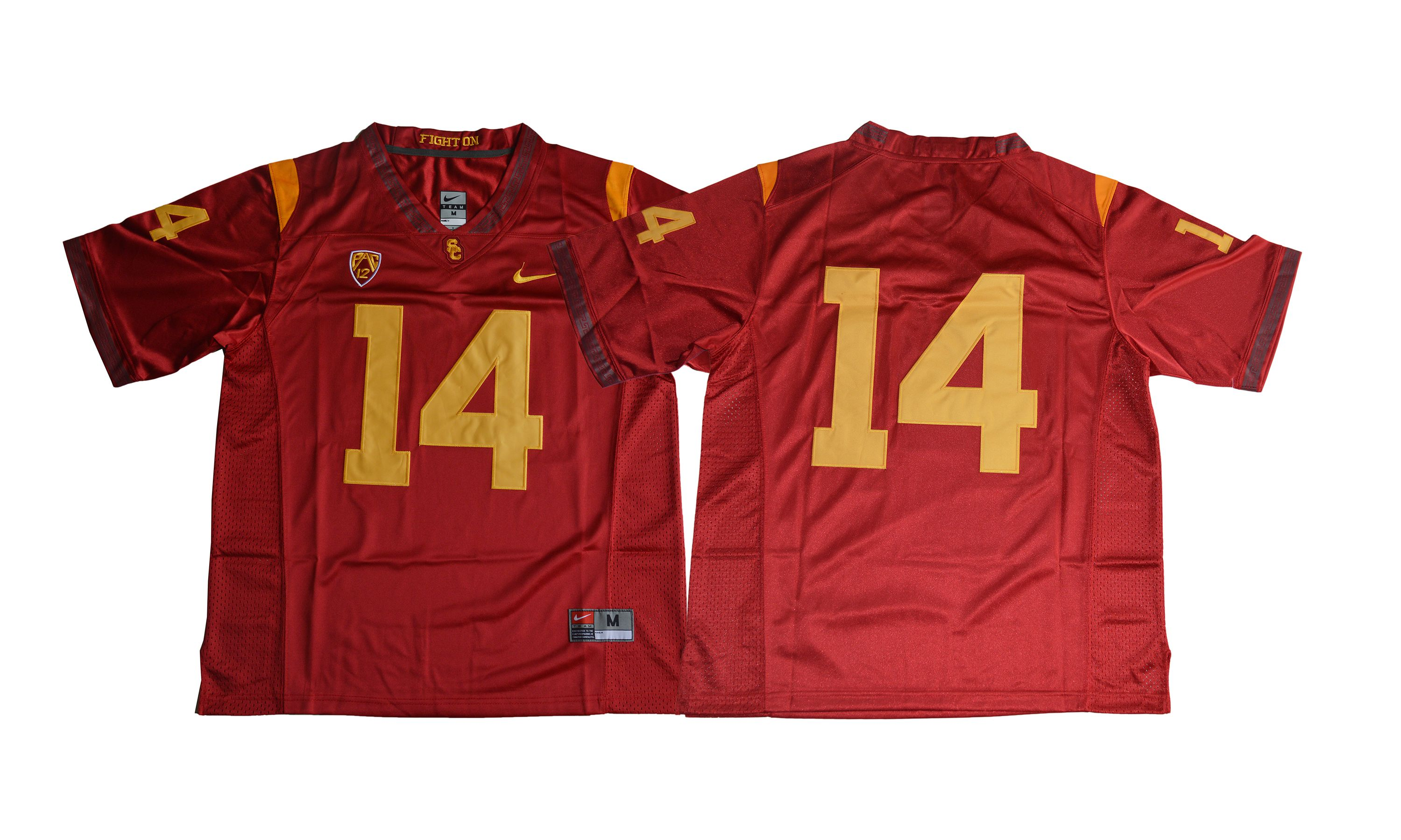 Men NCAA 2017 USC Trojans 14 Sam Darnold red jersey