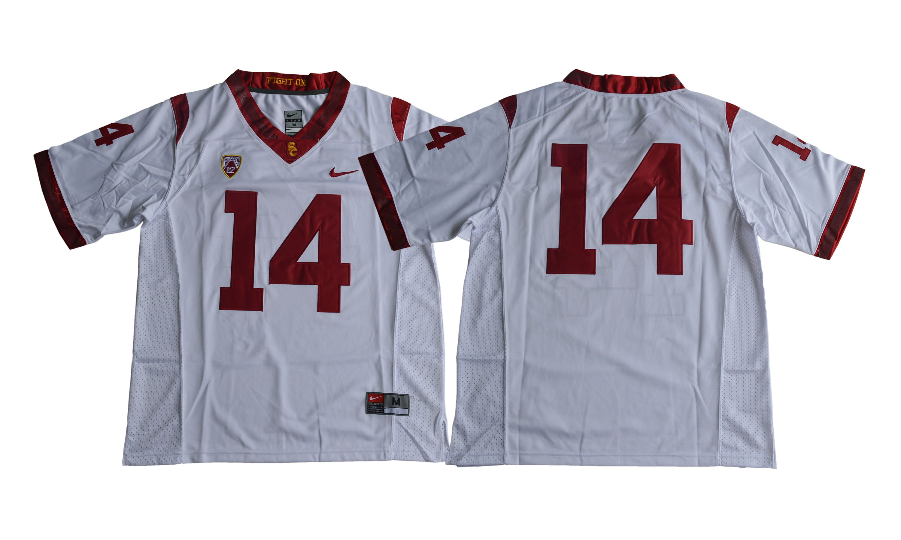 Men NCAA 2017 USC Trojans 14 Sam Darnold white jersey