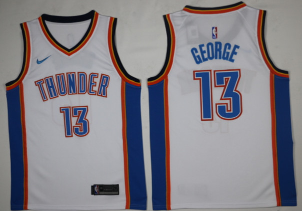 Men Oklahoma City Thunder 13 George White Game Nike NBA Jerseys