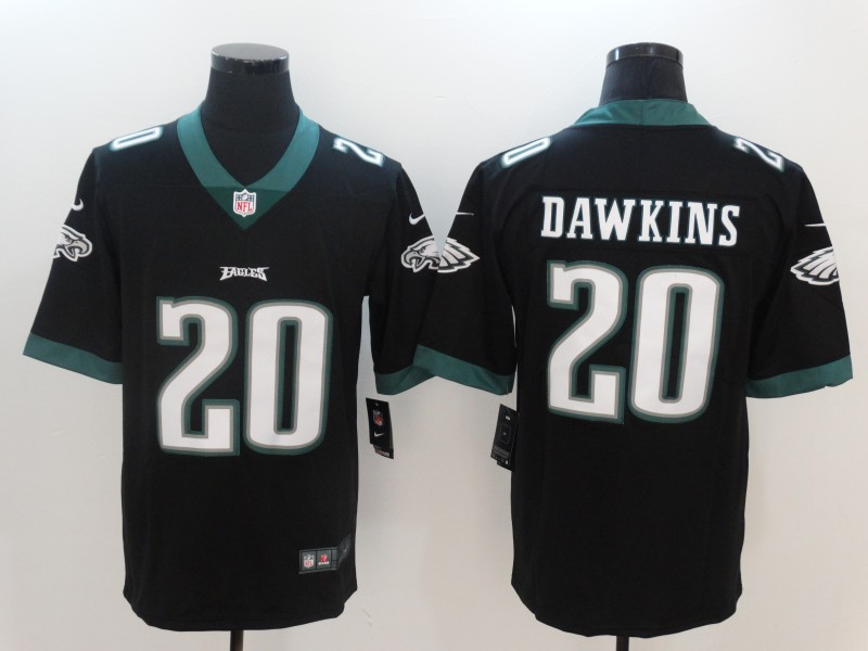 Men Philadelphia Eagles 20 Dawkins Black Nike Vapor Untouchable Limited NFL Jerseys