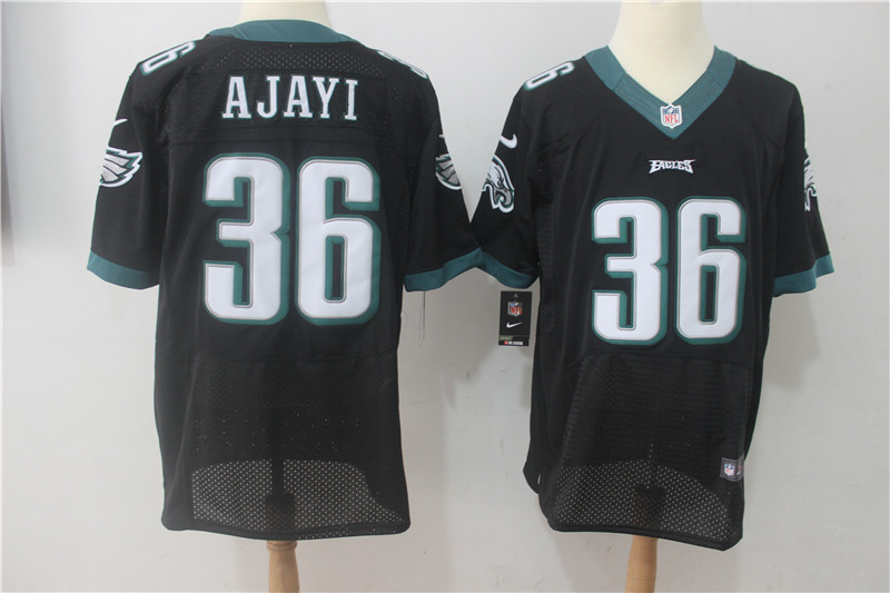Men Philadelphia Eagles 36 Ajayi Black Nike Elite NFL Jerseys