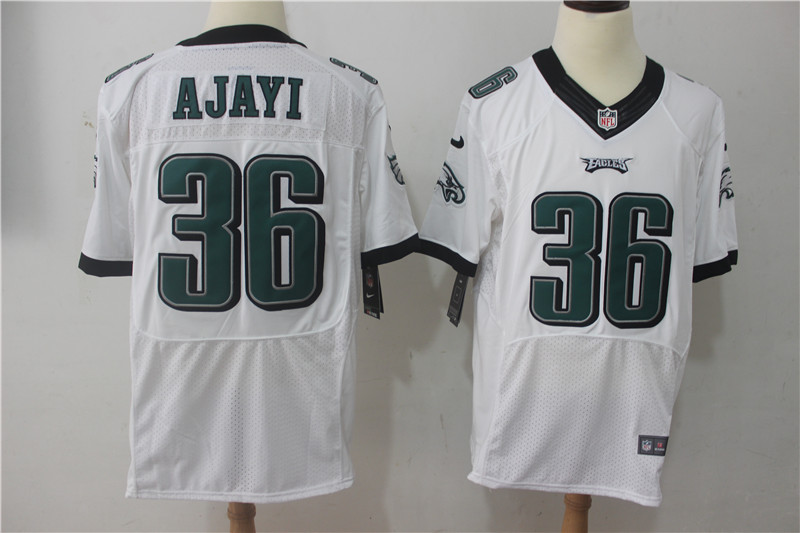 Men Philadelphia Eagles 36 Ajayi White Nike Elite NFL Jerseys