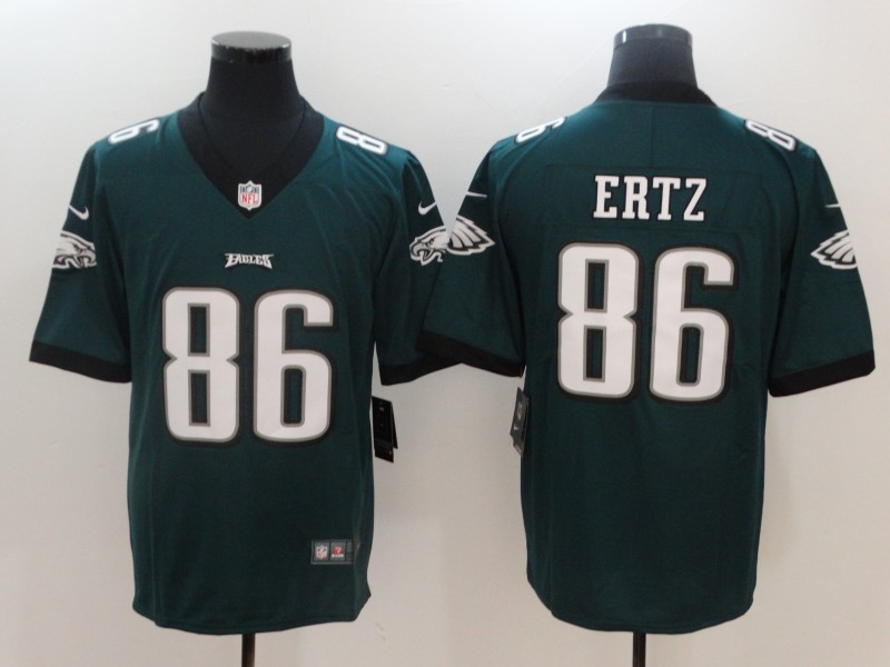 Men Philadelphia Eagles 86 Ertz Green Nike Vapor Untouchable Limited NFL Jerseys