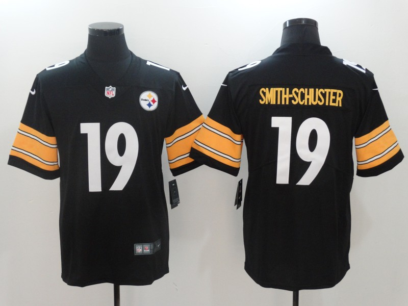 Men Pittsburgh Steelers 19 Smith-Schuster Black Nike Vapor Untouchable Limited NFL Jerseys