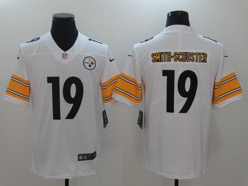 Men Pittsburgh Steelers 19 Smith-Schuster White Nike Vapor Untouchable Limited NFL Jerseys