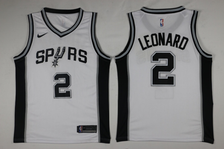 Men San Antonio Spurs 2 Leonard White Game Nike NBA Jerseys