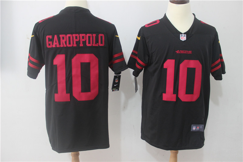 Men San Francisco 49ers 10 Garoppolo Black Nike Vapor Untouchable Limited NFL Jerseys