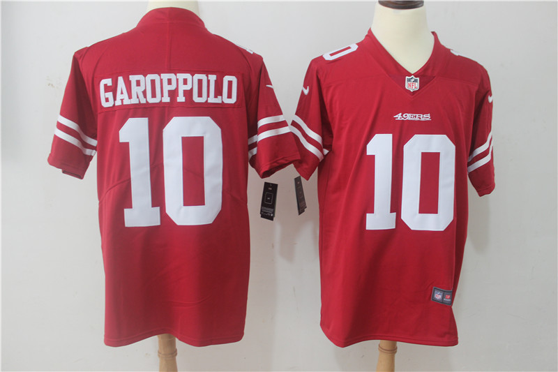 Men San Francisco 49ers 10 Garoppolo Red Nike Vapor Untouchable Limited NFL Jerseys