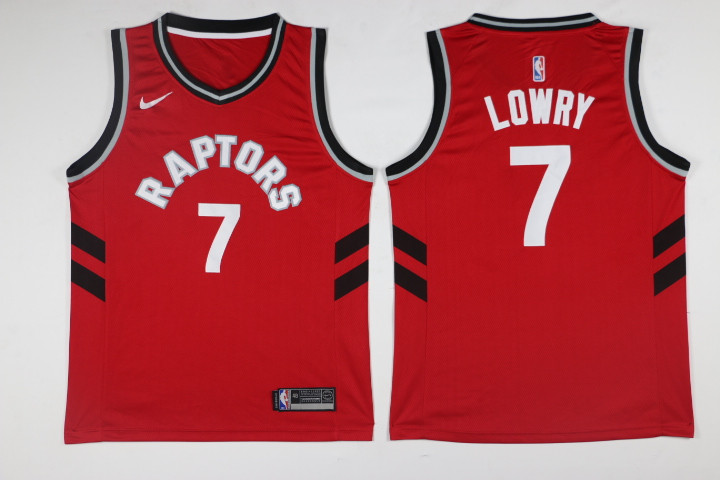 Men Toronto Raptors 7 Lowry Red Game Nike NBA Jerseys