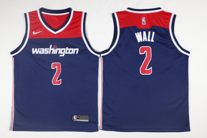 Men Washington Wizards 2 Wall Blue Game Nike NBA Jerseys