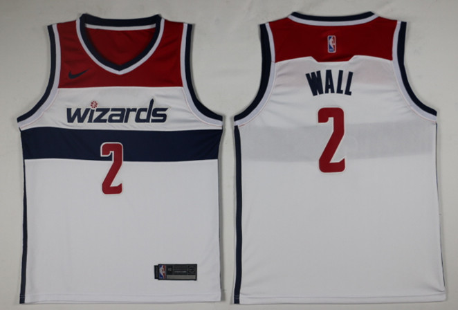 Men Washington Wizards 2 Wall White Game Nike NBA Jerseys