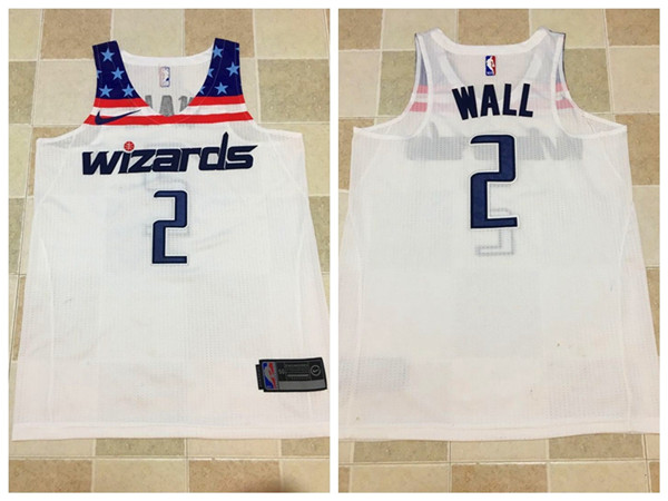 Men Washington Wizards 2 Wall White Nike NBA Jerseys