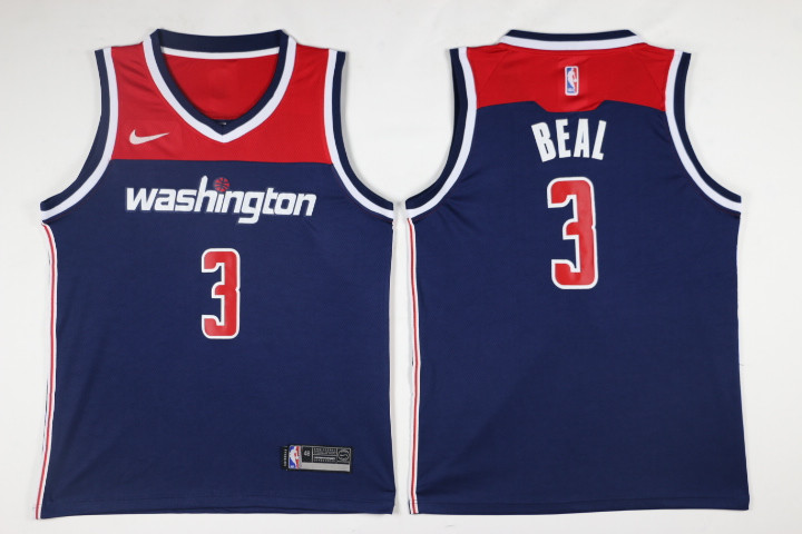 Men Washington Wizards 3 Beal Blue Game Nike NBA Jerseys