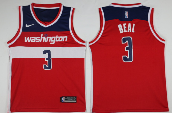 Men Washington Wizards 3 Beal Red Game Nike NBA Jerseys