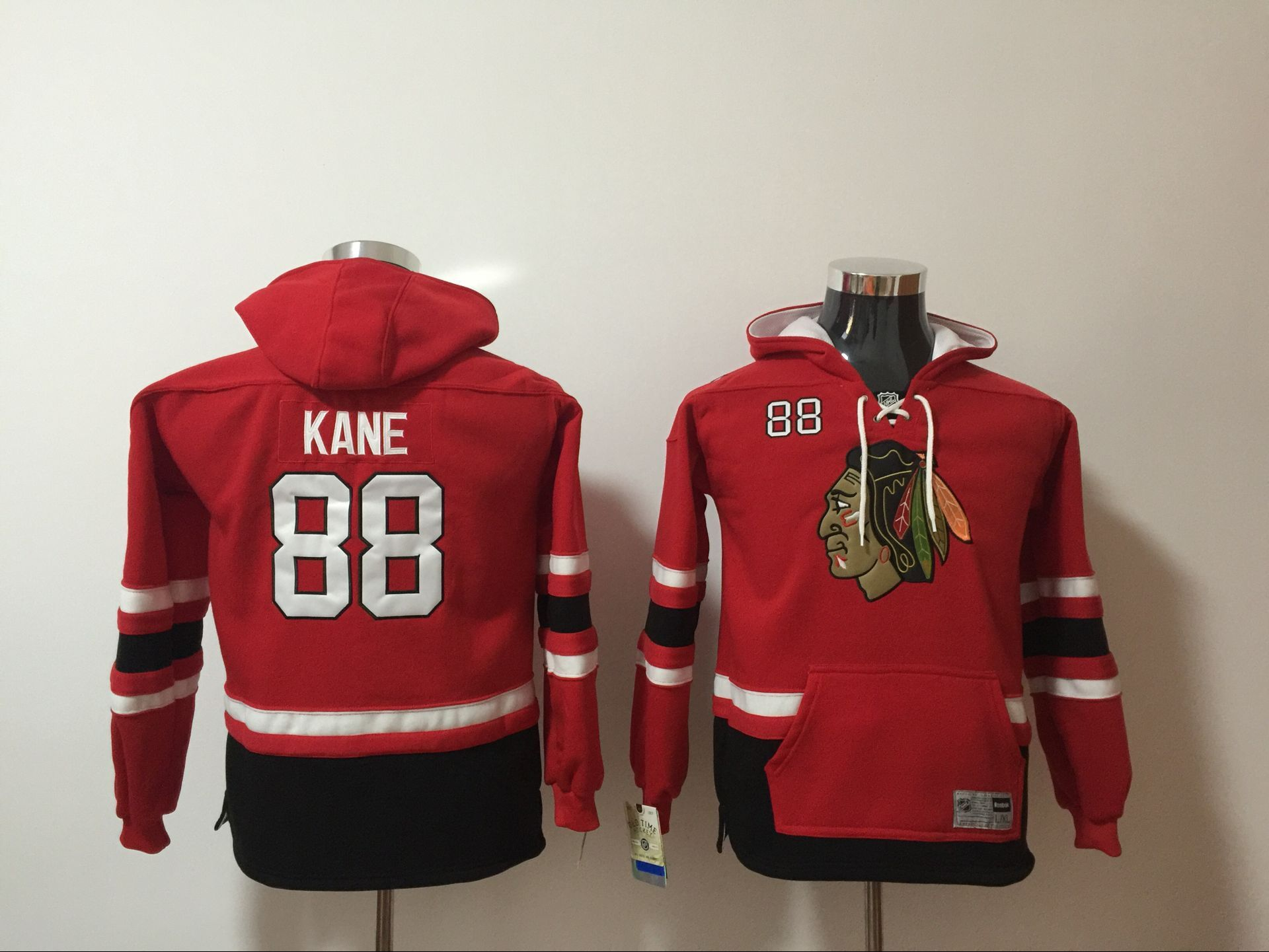 Youth 2017 NHL Chicago Blackhawks 88 Kane red hoodie