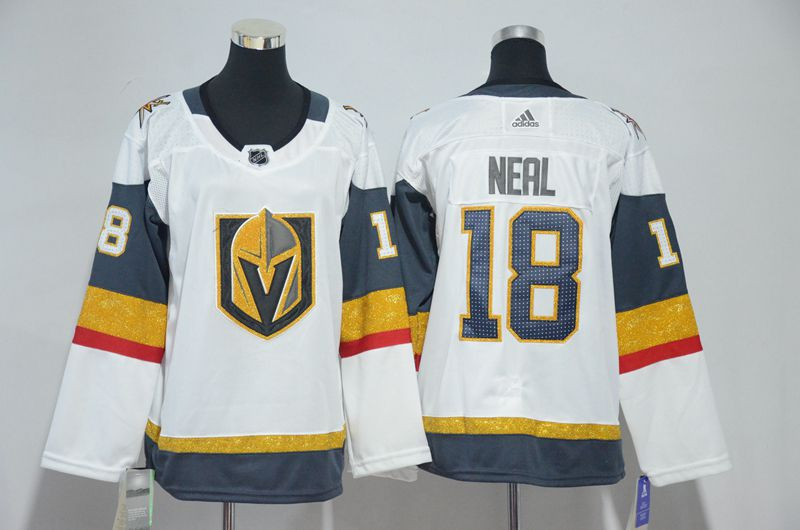 Men Vegas Golden Knights 18 Neal Fanatics Branded Breakaway Home White Adidas NHL Jersey