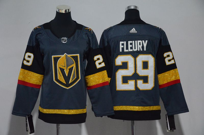 Men Vegas Golden Knights 29 Fleury Fanatics Branded Breakaway Home Gray Adidas NHL Jersey