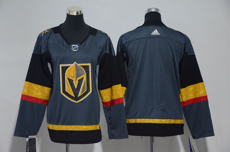 Men Vegas Golden Knights Fanatics Branded Breakaway Home Gray Adidas Jersey