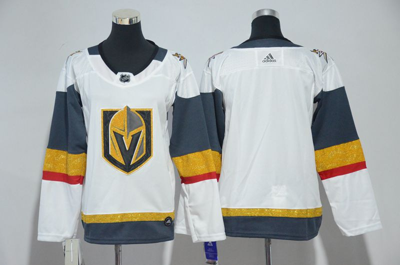 Men Vegas Golden Knights Blank Fanatics Branded Breakaway Home White Adidas NHL Jersey