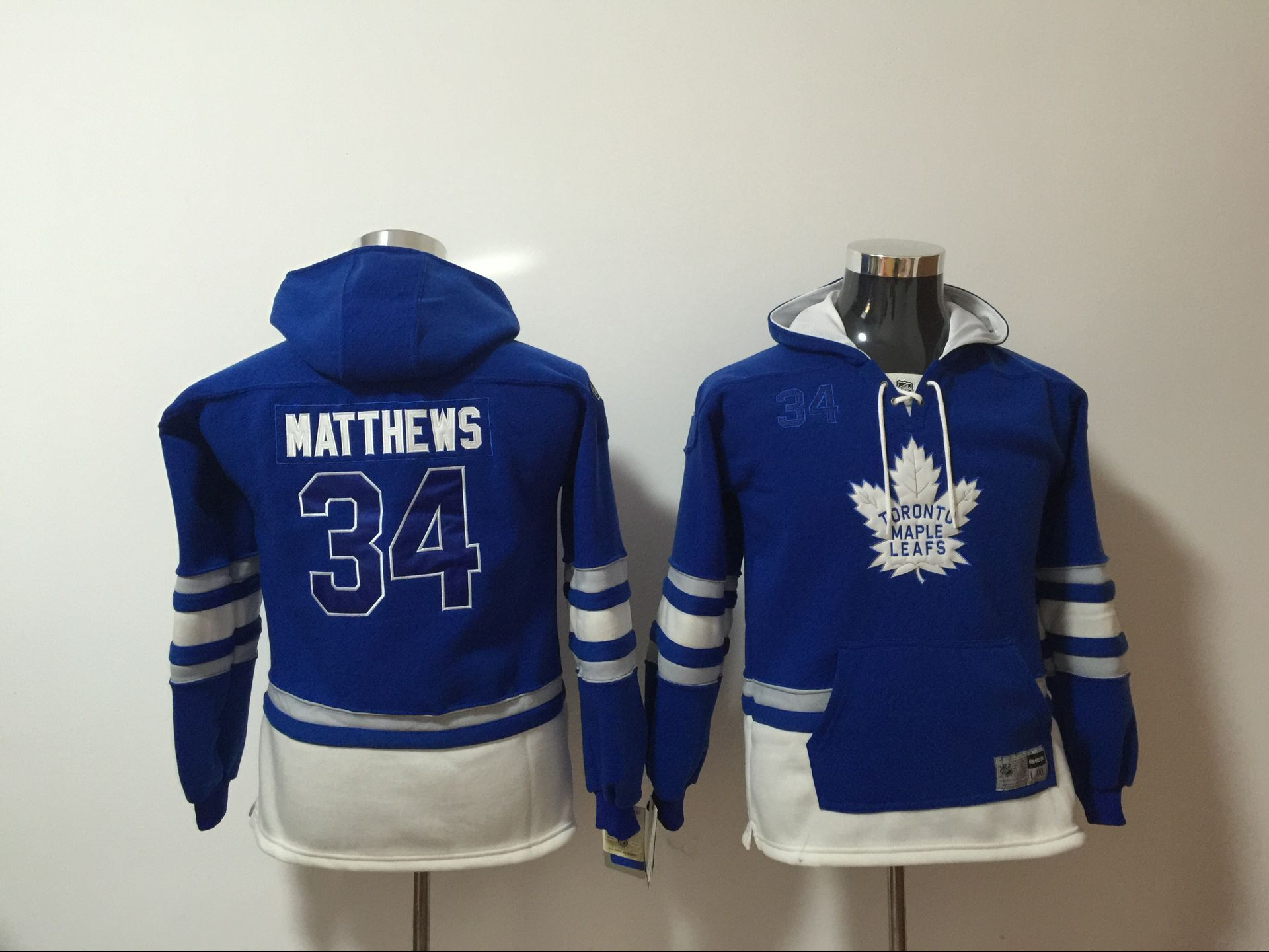 Youth 2017 NHL Toronto Maple Leafs 34 Matthews blue Hoodie