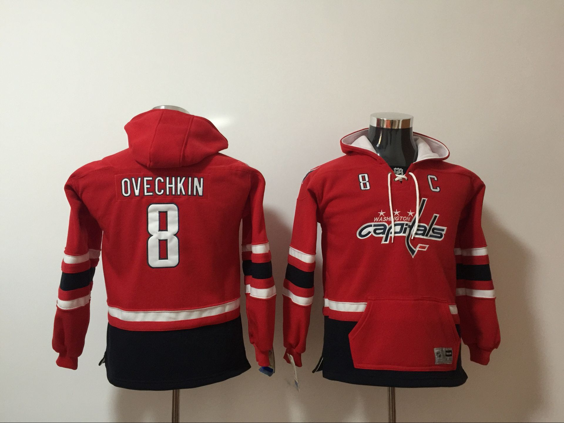 Youth 2017 NHL Washington Capitals 8 Ovechkin Red Hoodie