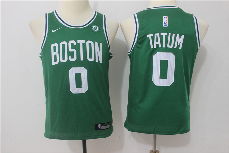 Youth Boston Celtics 0 Tatum Green Game Nike NBA Jerseys