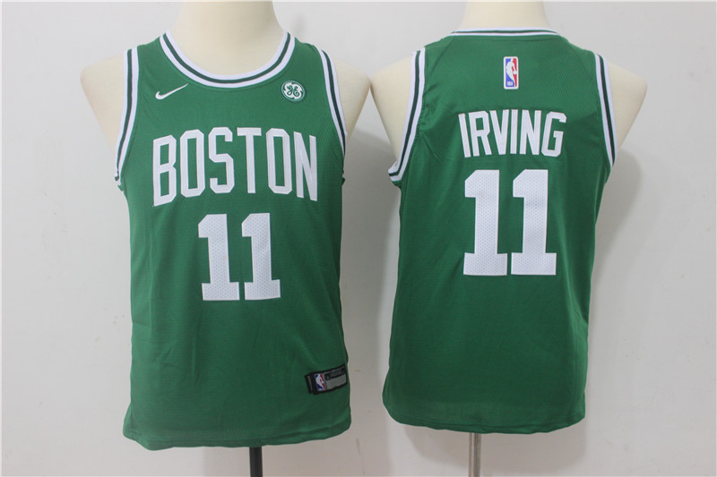 Youth Boston Celtics 11 Irving Green Game Nike NBA Jerseys1