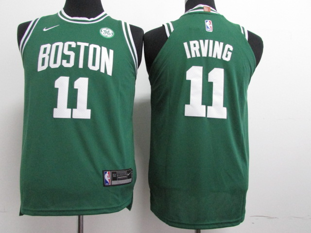 Youth Boston Celtics 11 Irving Green Nike NBA Jerseys