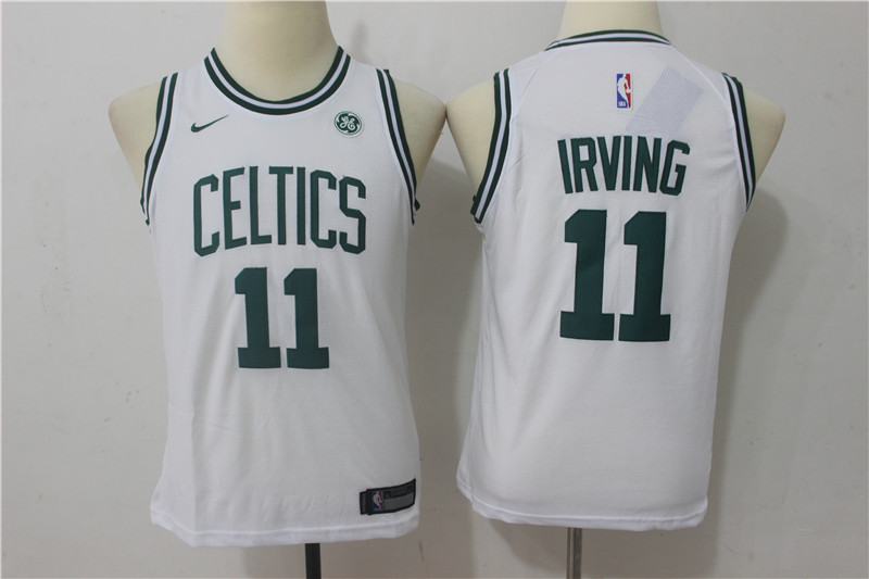 Youth Boston Celtics 11 Irving White Game Nike NBA Jerseys1