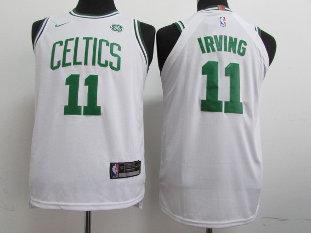 Youth Boston Celtics 11 Irving White Nike NBA Jerseys