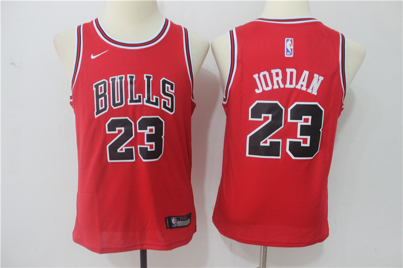Youth Chicago Bulls 23 Michael Jordan Red Game Nike NBA Jerseys