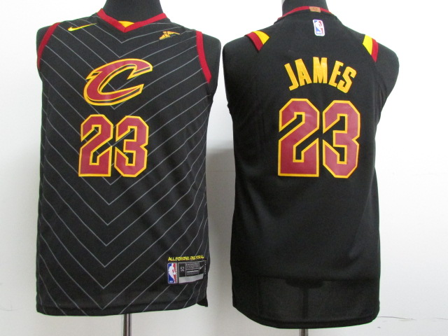 Youth Cleveland Cavaliers 23 James Black Nike NBA Jerseys