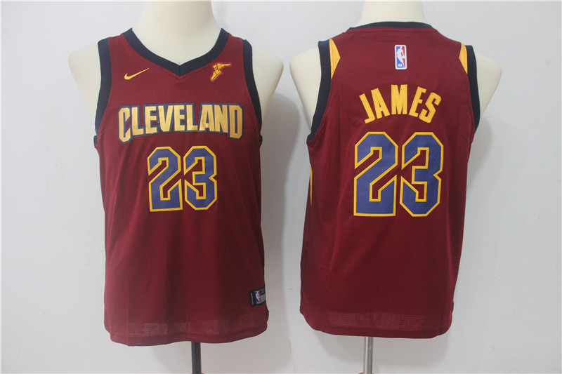 Youth Cleveland Cavaliers 23 James Red Game Nike NBA Jerseys