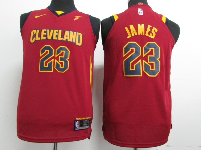 Youth Cleveland Cavaliers 23 James Red Nike NBA Jerseys