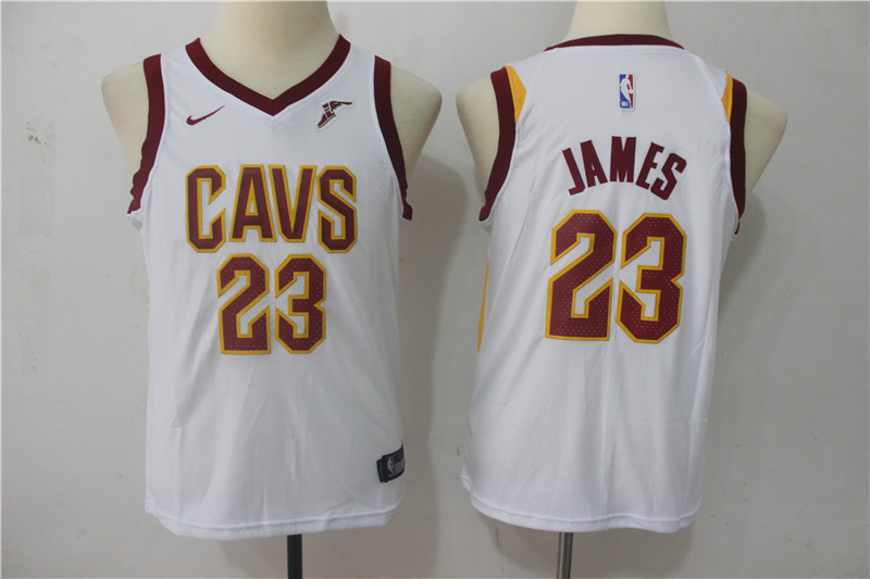 Youth Cleveland Cavaliers 23 James White Game Nike NBA Jerseys