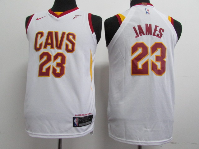 Youth Cleveland Cavaliers 23 James white Nike NBA Jerseys